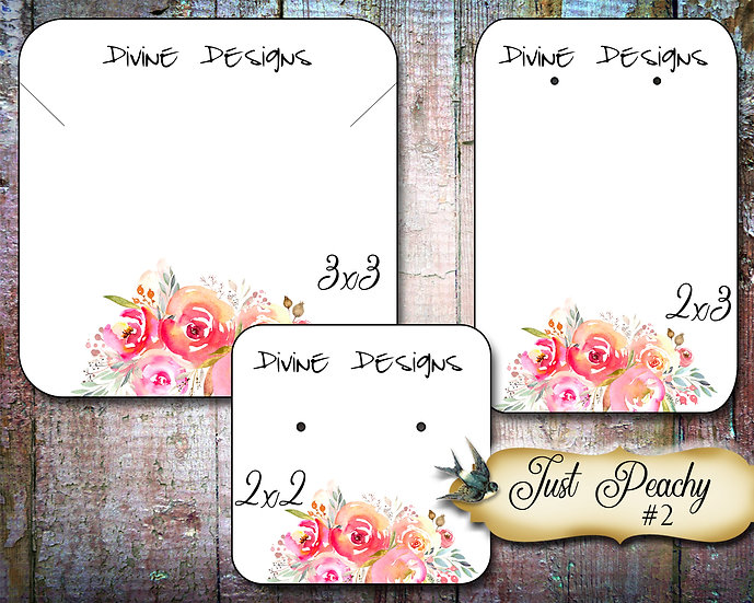 60•JUST PEACHY #2•Necklace Card•Earring Cards•Jewelry Cards•Display Car