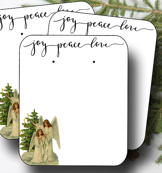HOLIDAY Angel•Earring Cards•Holiday Tags•Holiday Labels•Angel 1