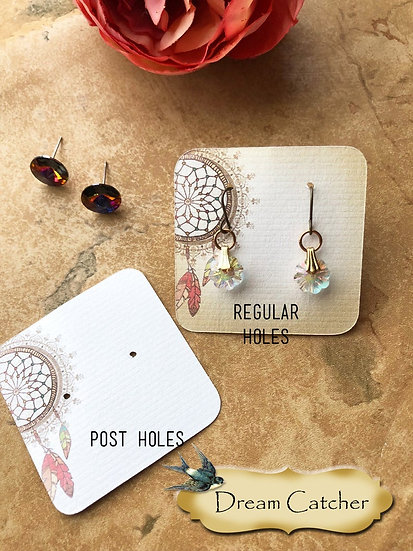 DREAM CATCHER•Necklace Card•Earring Cards•Jewelry Cards•Display Card