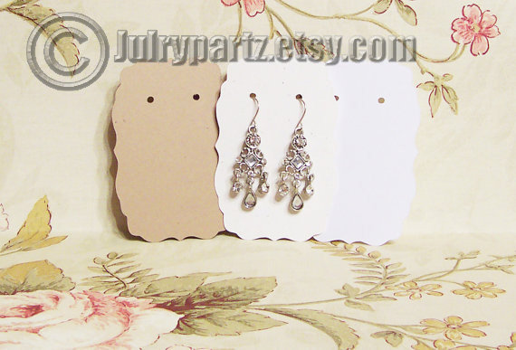64•MIA•2 x 3 inch•EARRING CARDS•Jewelry Cards•Earring Display•Earring Holder