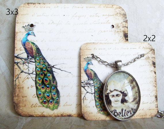 REGAL PEACOCK•Necklace Card•Earring Cards•Jewelry Cards•Display Car