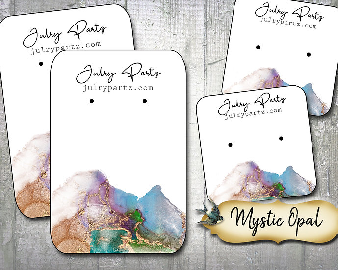 MYSTIC OPAL•Necklace Card•Earring Cards•Jewelry Cards•Display Ca