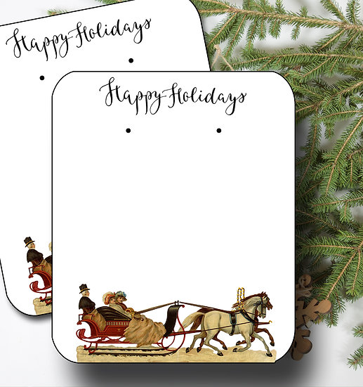 HOLIDAY SCENE•Earring Cards•Holiday Tags•Holiday Labels•SCENE 1