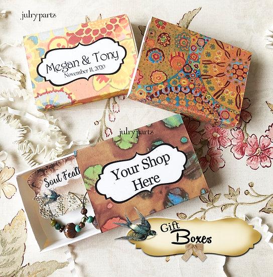Set of 12 •2x2.60 GIFT BOX•Jewelry Box•Gift Packaging•Boho 10