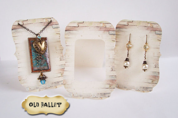 36• Zoe with OLD PALLET•Tent Cards•EARRING CARDS•Jewelry Cards•Earrin