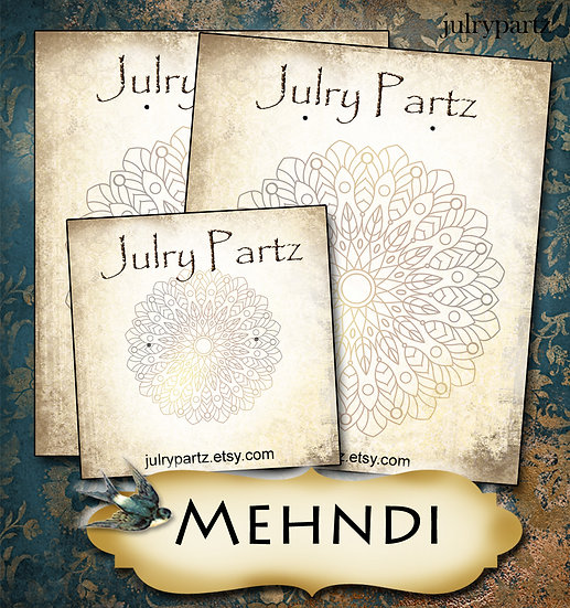 MEHNDI #1•Custom Cards•Labels•Earring Display•Clothing Tags