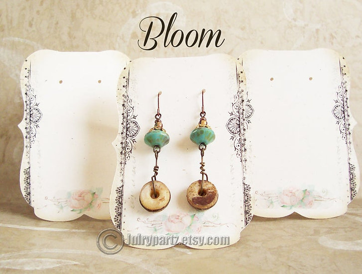 36•BLOOM•Tent Cards•EARRING CARDS•Jewelry Cards•Earring