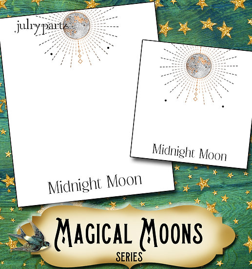 MIDNIGHT MOON•Custom Cards•Labels•Earring Display•Clothing Tags