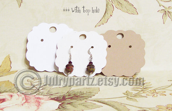 60•PUFFS•2 x 2 inch•EARRING CARDS•Jewelry Cards•Earring Display•Earring Holde