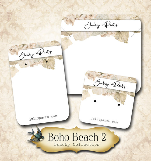 BOHO BEACH #2 •Necklace Card• Earring Cards •Jewelry Cards •Display CAR