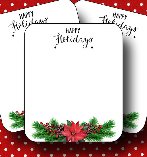 HOLIDAY•Earring Cards•Holiday Tags•Holiday Labels•POINSETTA 3