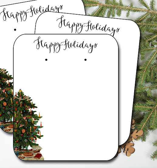 HOLIDAY TREE•Earring Cards•Holiday Tags•Holiday Labels•TREE 1