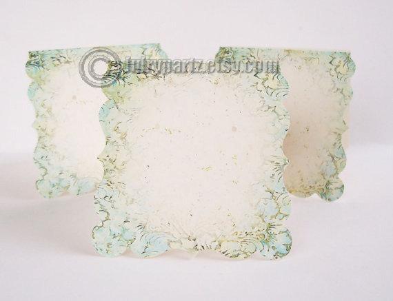 24 DECO BATIK 2.5x2.5•Decorative Ear Cards•Jewelry Cards•Earring