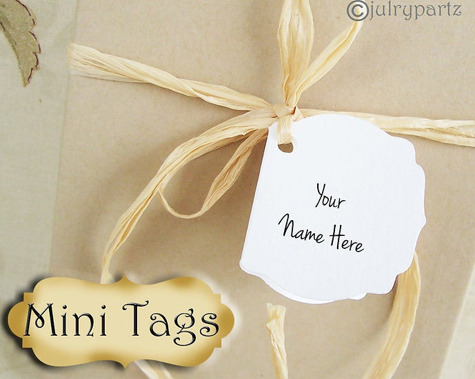 12 MINI TAGS #8 • 1.5 X 1.5 inch•Necklace Tags•Bracelet Tags•Price Tag