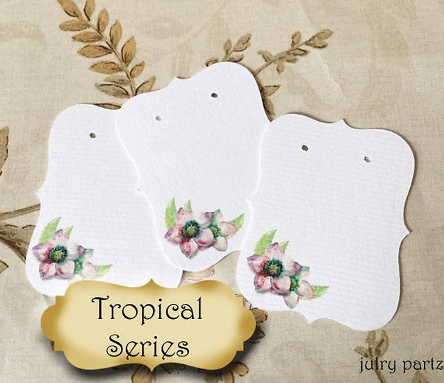 64•Lilac Tropical Flower•Earring Cards•Jewelry Cards•Earring Display•Earring H