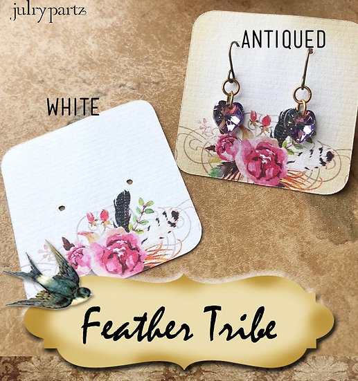 60•FEATHER TRIBE Center•Necklace Card•Earring Cards•Jewelry Cards•Display C