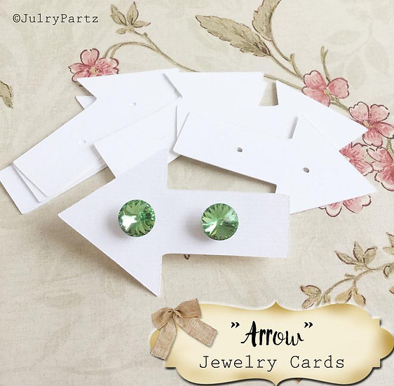30•2X3•ARROW•EARRING Cards•Jewelry Card•Post Earring Card•STUD