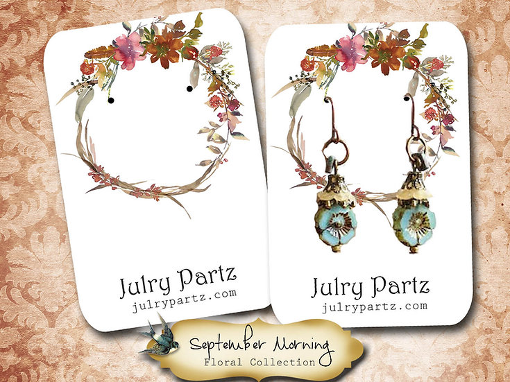 SEPTEMBER MORN •Necklace Card• Earring Cards •Jewelry Cards •Display CARD