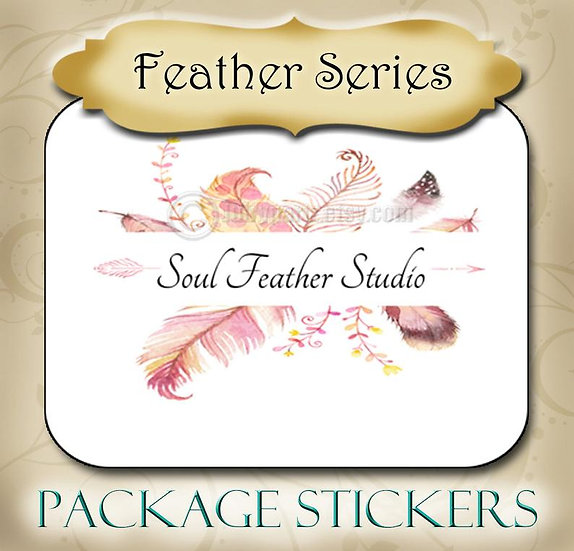 30•FEATHER Series•STICKERS•Rectangle Labels•Package Labels