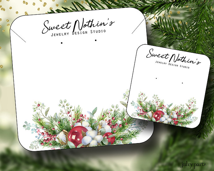 HOLIDAY•Earring Cards•Holiday Tags•Holiday Labels•SWEET NOTHINGS