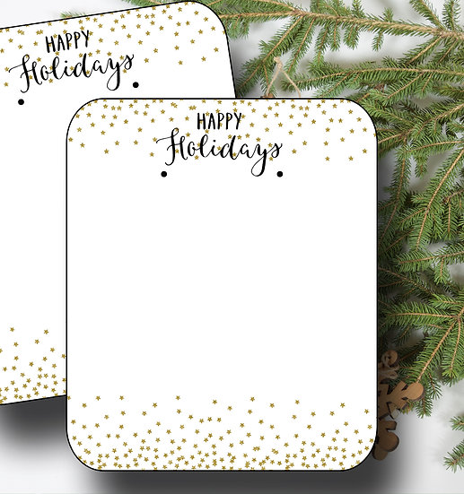 HOLIDAY•Earring Cards•Holiday Tags•Holiday Labels•GLITTER 1