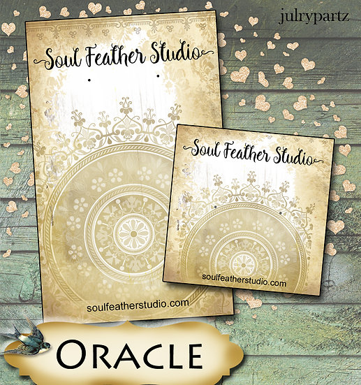 ORACLE•Custom Cards•Labels•Earring Display•Clothing Tags