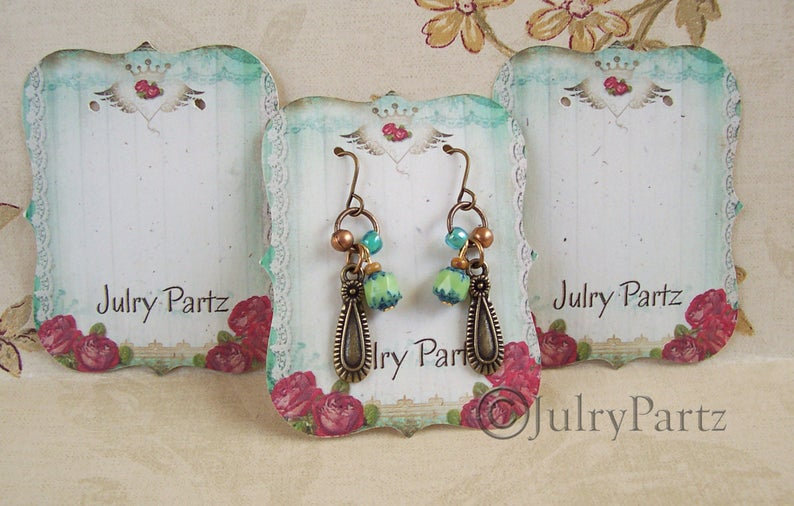 64 JUNK GYPSY•Earring Cards•Jewelry Cards•Necklace Card•Earring Display