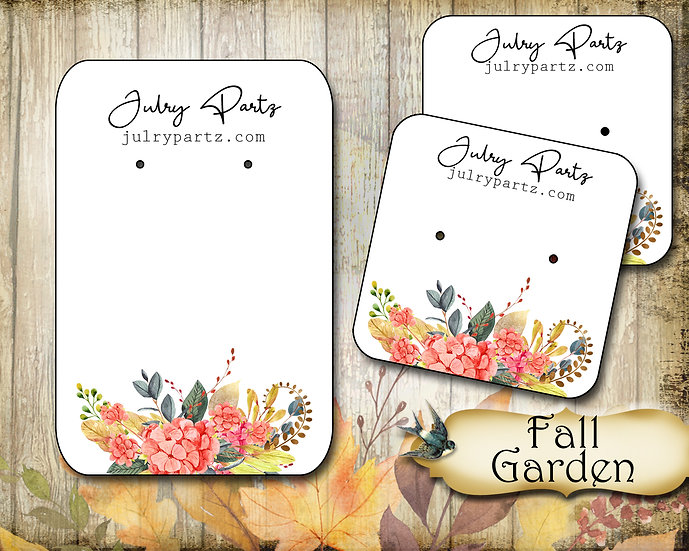 FALL GARDEN•Necklace Card•Earring Cards•Jewelry Cards•Display Car