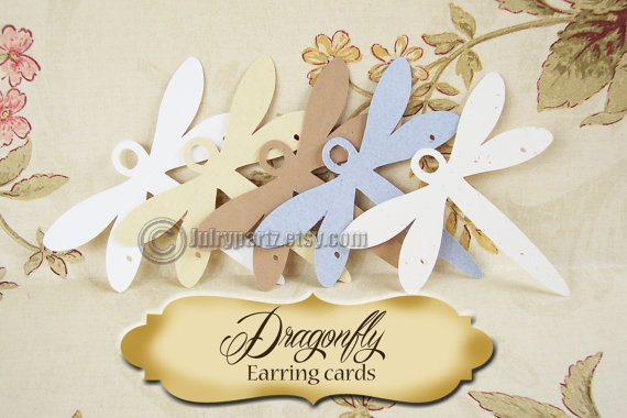 36-DRAGONFLY•3 inch• Earring cards• Jewelry cards• Earring Display