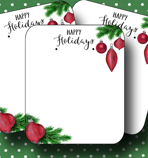 HOLIDAY WREATH•Earring Cards•Holiday Tags•Holiday Labels•WREATH 4