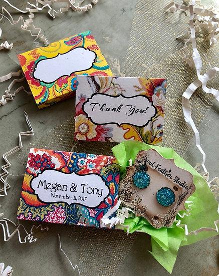 Set of 12 •2x2.60 GIFT BOX•Jewelry Box•Gift Packaging•Boho 5