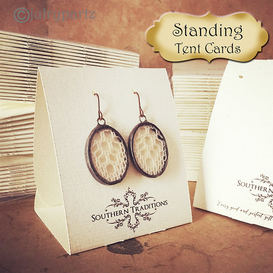 36•Free Standing•Tent Cards•EARRING CARDS•Jewelry Cards•Earring Display•Earring