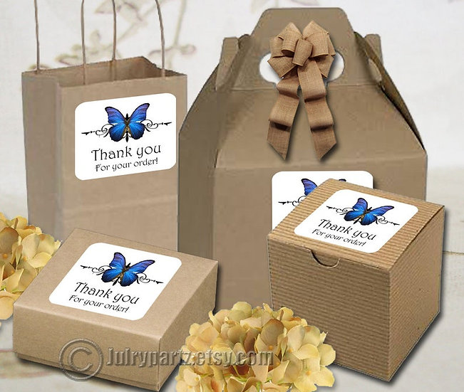 30•BUTTERFLY Series•STICKERS•Rectangle Labels•Package Labels