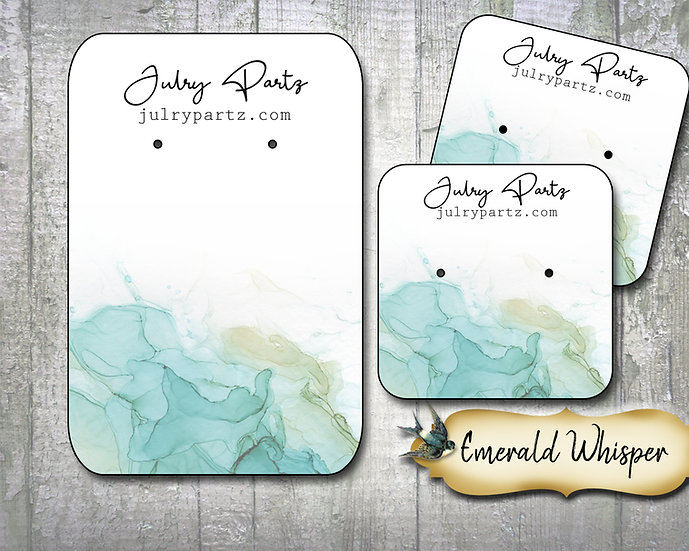 EMERALD WHISPER•Necklace Card•Earring Cards•Jewelry Cards•Display Car