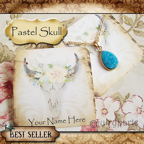 PASTEL SKULL•Necklace Card•Earring Cards•Jewelry Cards•Display Car