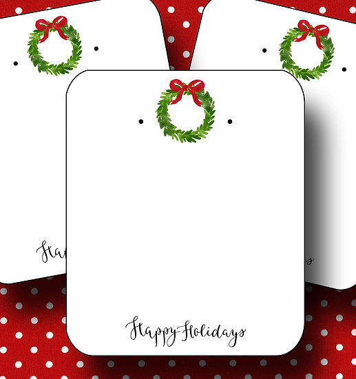 HOLIDAY WREATH•Earring Cards•Holiday Tags•Holiday Labels•WREATH 2