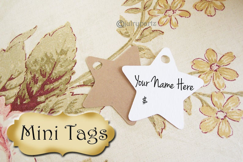 24 MINI TAGS #15 • 1.5 X 1.5 inch•Necklace Tags•Bracelet Tags•Price Tags