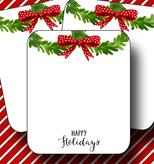 HOLIDAY WREATH•Earring Cards•Holiday Tags•Holiday Labels•WREATH 3