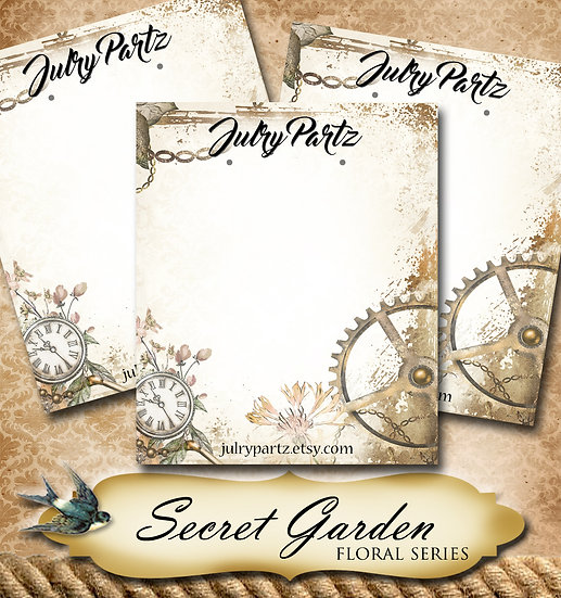 copy of SECRET GARDEN #4•Custom Cards•Labels•Earring Display•Clothing Tags