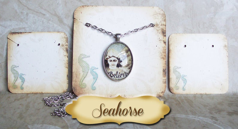 SEAHORSE•Necklace Card•Earring Cards•Jewelry Cards•Display Car