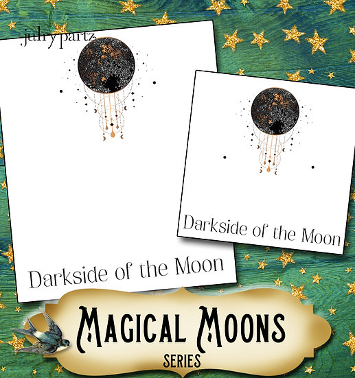 DARK SIDE of the MOON•Custom Cards•Labels•Earring Display•Clothing Tags