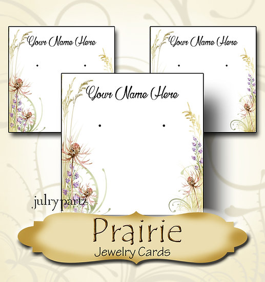 PRAIRIE•Custom Cards•Labels•Earring Display•Clothing Tags