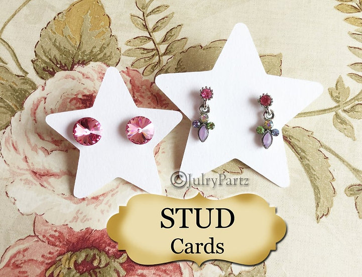 STAR•EARRING Cards•Jewelry Card•Post Earring Card•STUD 8