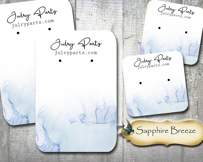 60•SAPPHIRE BREEZE•Necklace Card•Earring Cards•Jewelry Cards•Display Ca