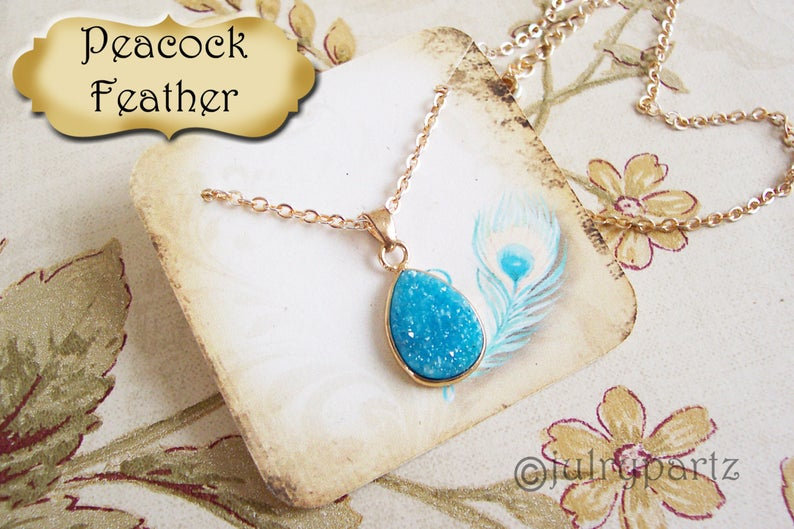 BLUE FEATHER•Necklace Card•Earring Cards•Jewelry Cards•Display Car