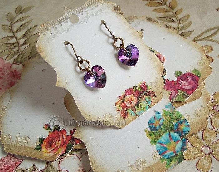 64 GARDEN•Earring Cards•Jewelry Cards•Earring Display•Earring Holde