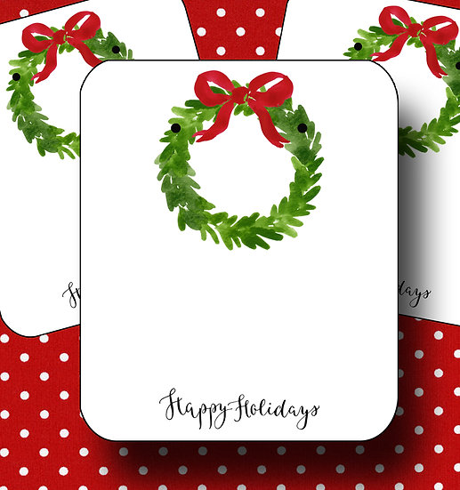 HOLIDAY WREATH•Earring Cards•Holiday Tags•Holiday Labels•WREATH 1