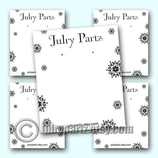 SNOWFLAKE 1•Custom Cards•Labels•Earring Display•Clothing Tags