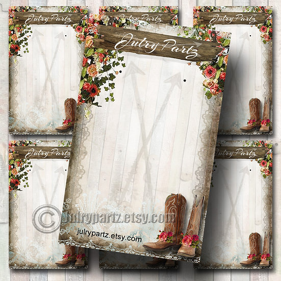 COWGIRL•Custom Cards•Labels•Earring Display•Clothing Tags