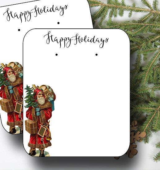 HOLIDAY SANTA•Earring Cards•Holiday Tags•Holiday Labels•SANTA 1